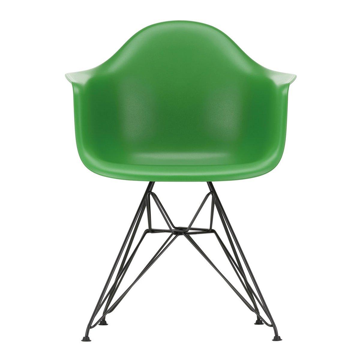 Vitra Eames DAR Armstoel Zwart Onderstel - Green