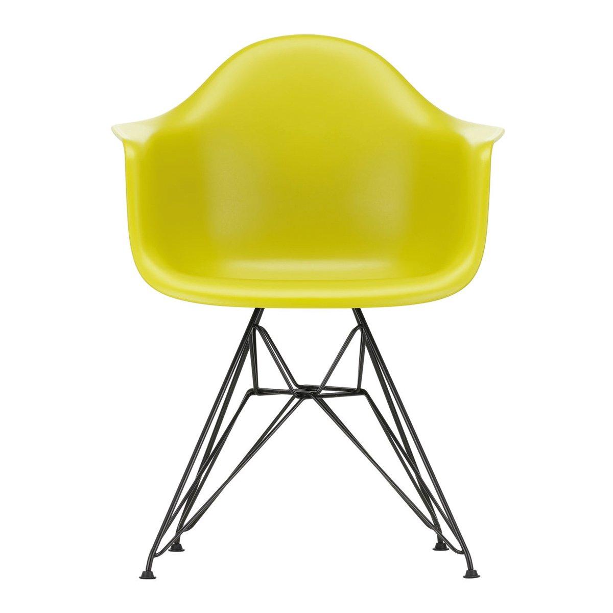 Vitra Eames Plastic Chair DAR Armstoel Zwart Onderstel