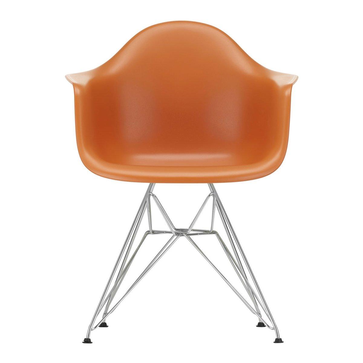 Vitra Eames DAR Armstoel Chroom Onderstel - Rusty Orange