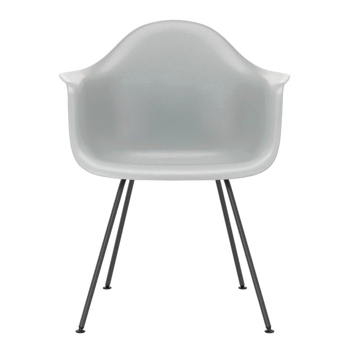 Vitra Eames Plastic Chair DAX Armstoel Zwart Onderstel
