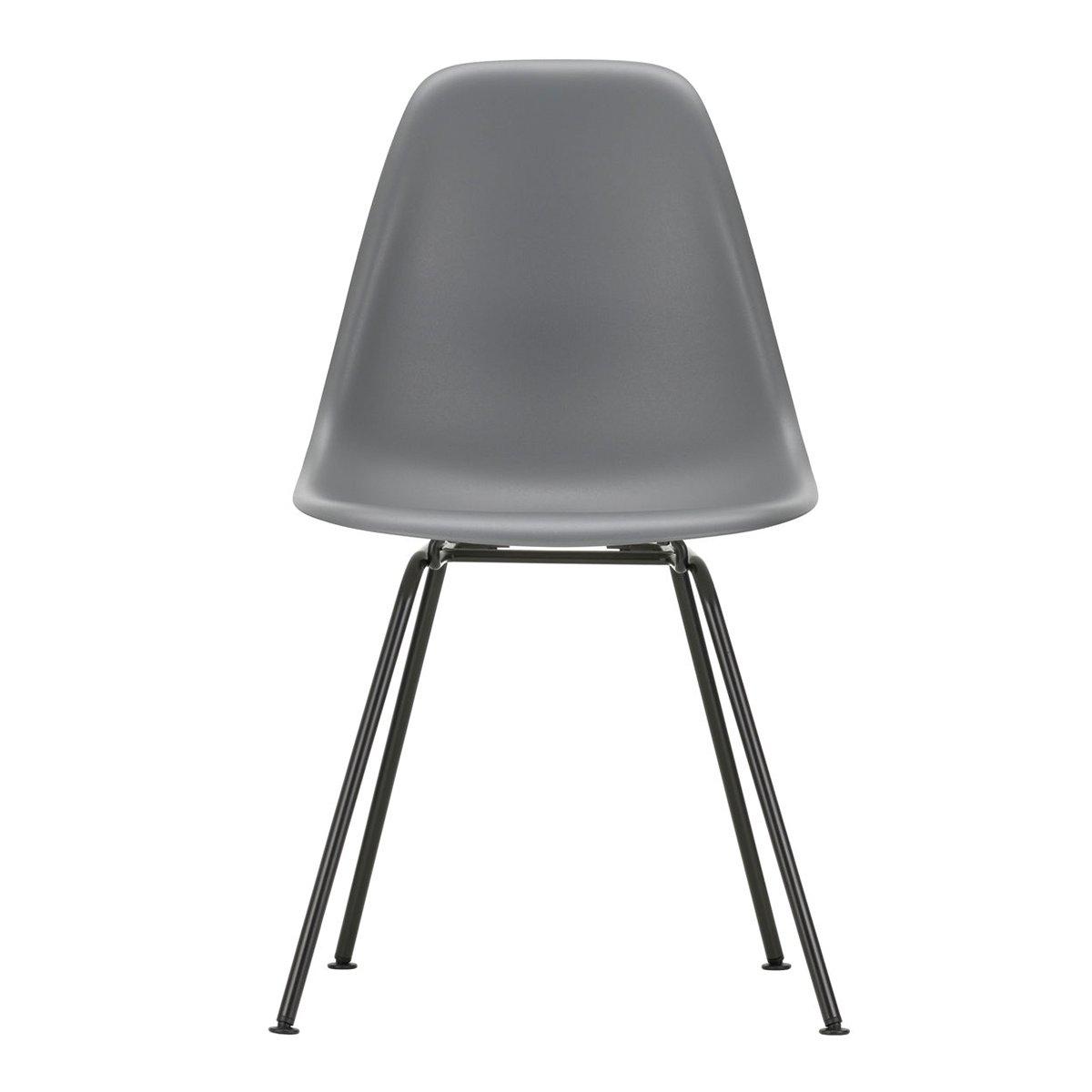 Vitra Eames DSX Stoel Zwart Onderstel - Granite Grey