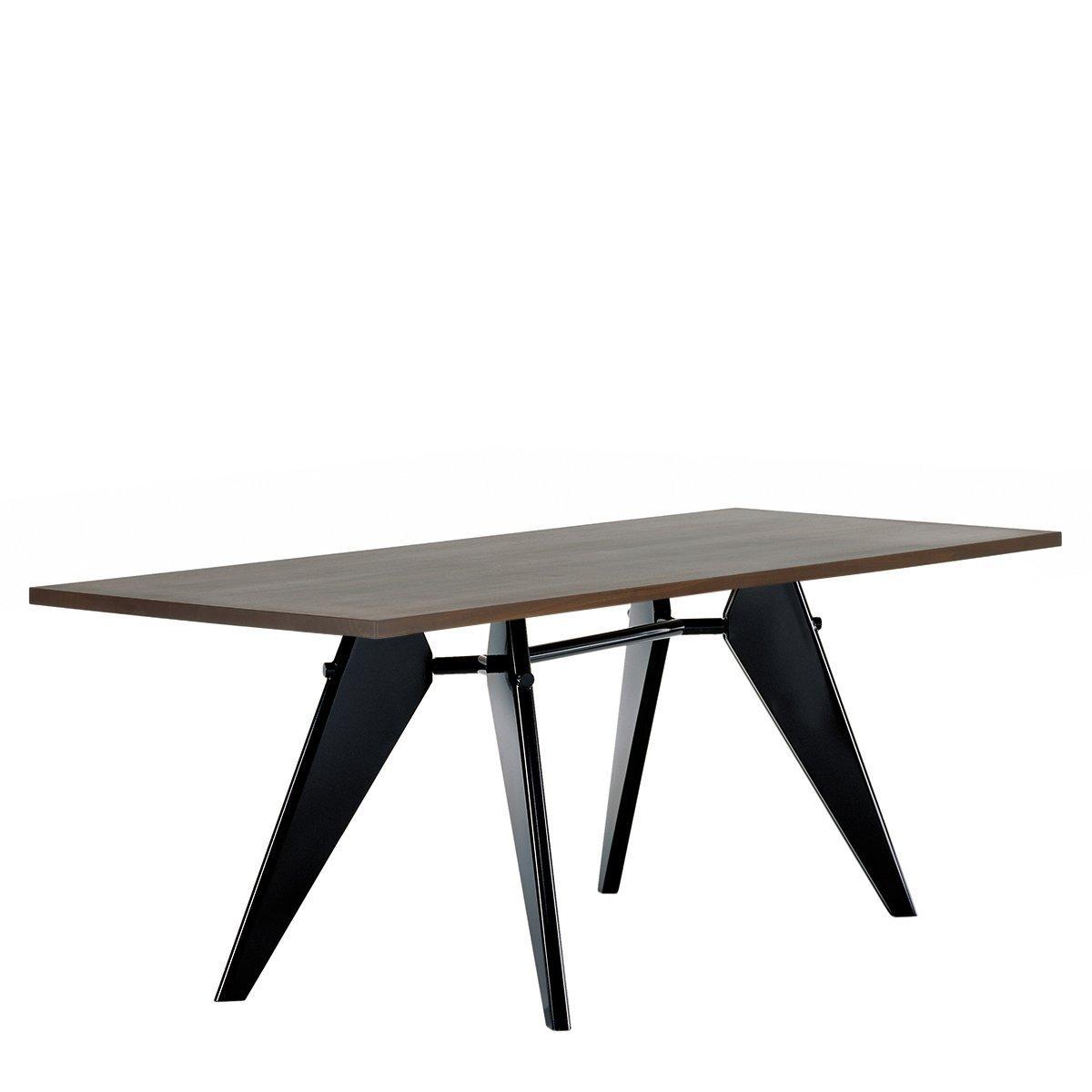 Vitra EM Eettafel - Gerookt Eiken - Zwart - 200 x 90 cm.