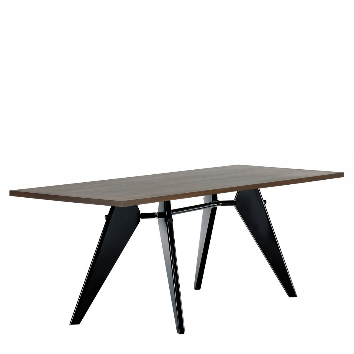 Vitra EM Eettafel - Gerookt Eiken - Zwart - 260 x 90 cm.