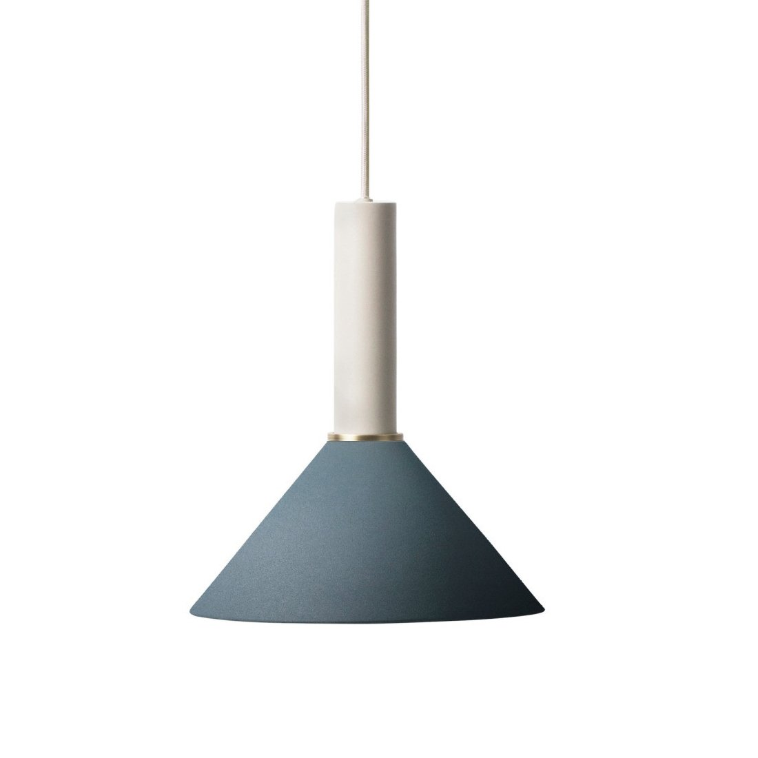 Ferm Living Collect Cone Donkerblauw High Hanglamp