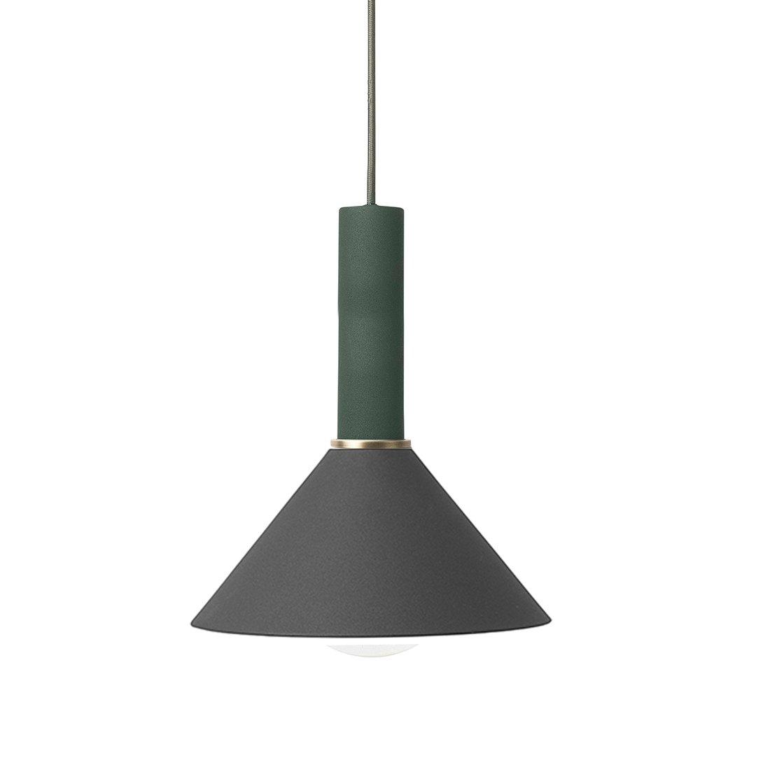 Ferm Living Collect Cone High Hanglamp Donkergroen Zwart