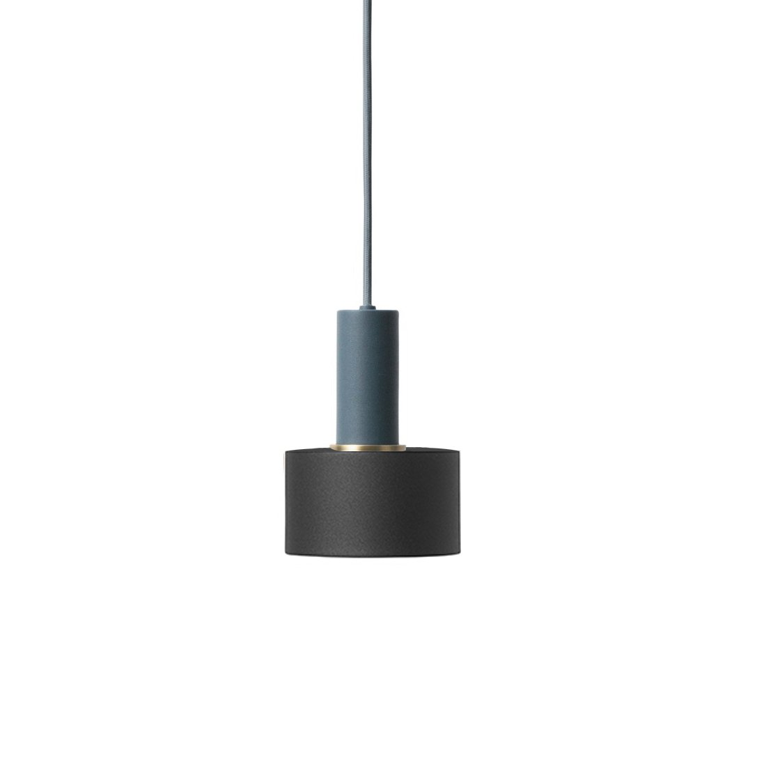 Ferm Living Collect Disc Low Hanglamp Donkerblauw Zwart
