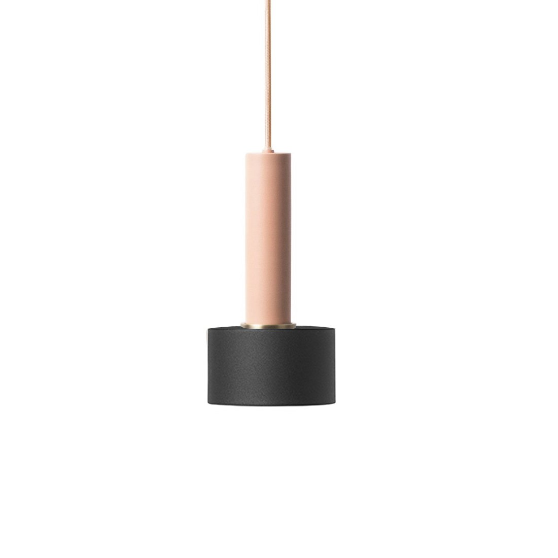 Ferm Living Collect Disc High Hanglamp Roze Zwart