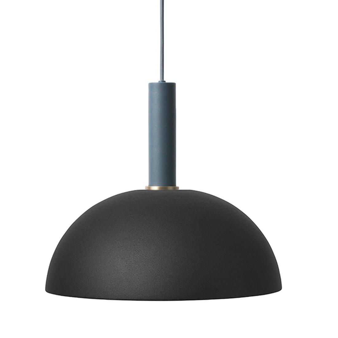 Ferm Living Collect Dome High Hanglamp Donkerblauw Zwart