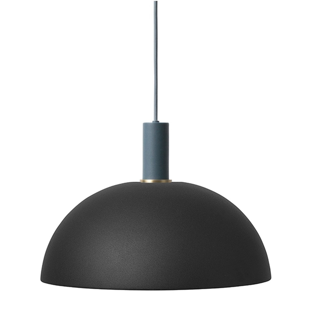 Ferm Living Collect Dome Low Hanglamp Donkerblauw Zwart