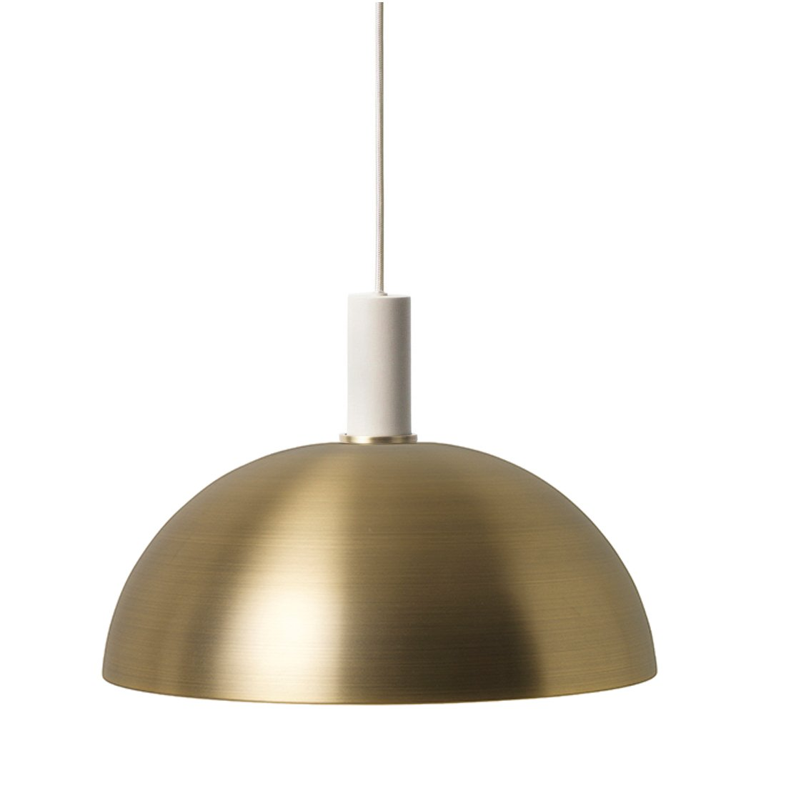 Ferm Living Collect Dome Low Hanglamp Lichtgrijs Messing