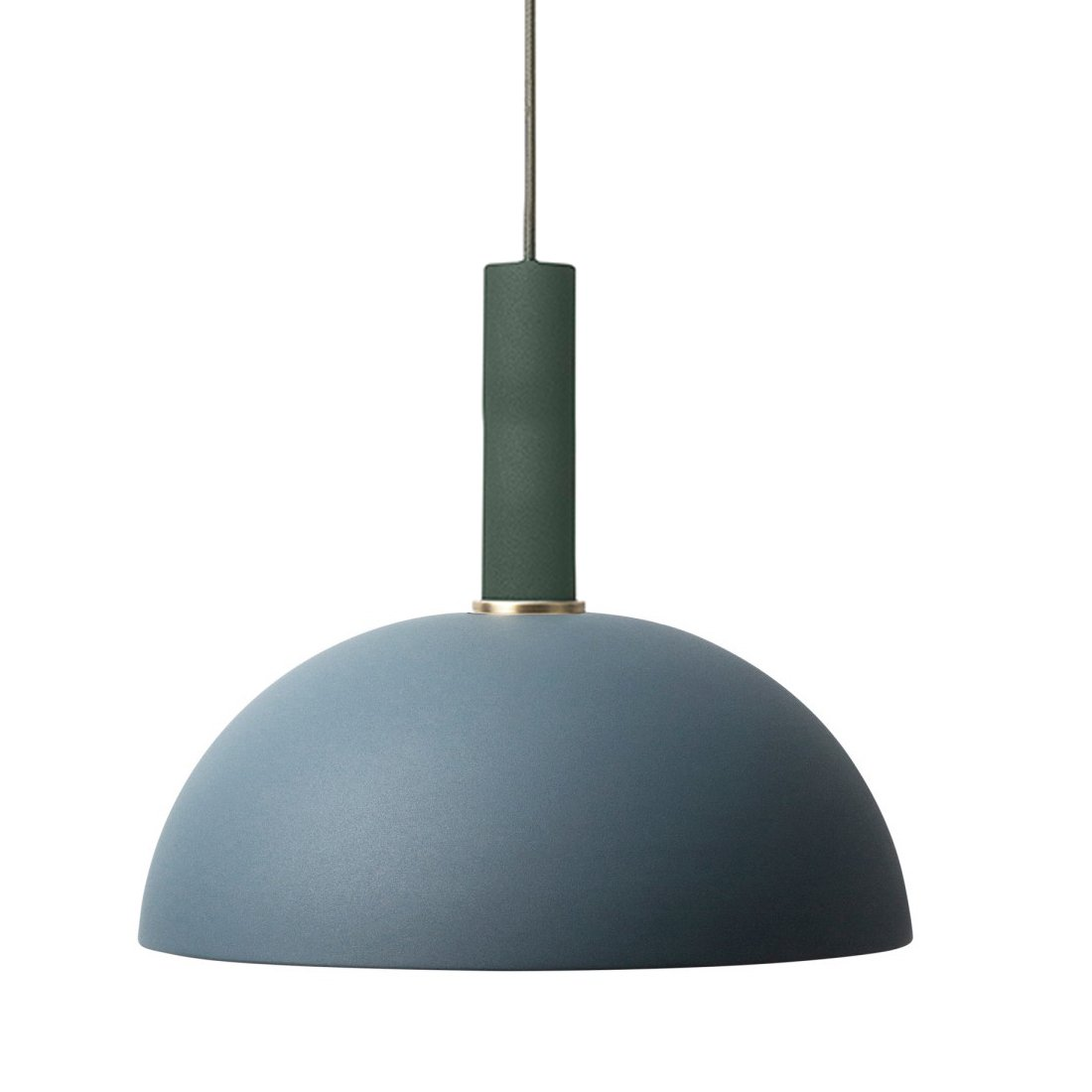 Ferm Living Collect Dome High Hanglamp Donkergroen Donkerblauw