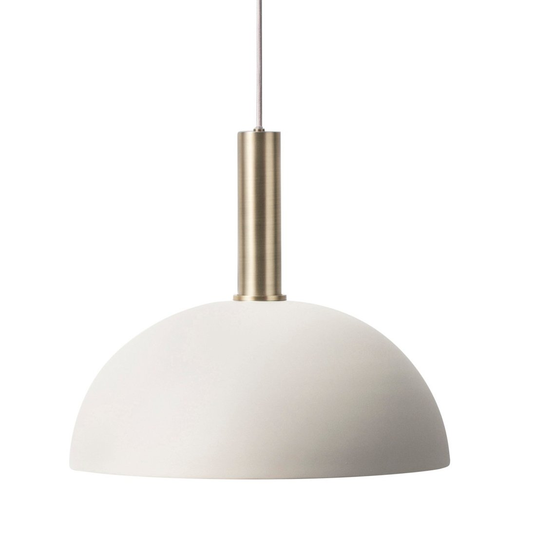 Ferm Living Collect Dome Lichtgrijs High Hanglamp