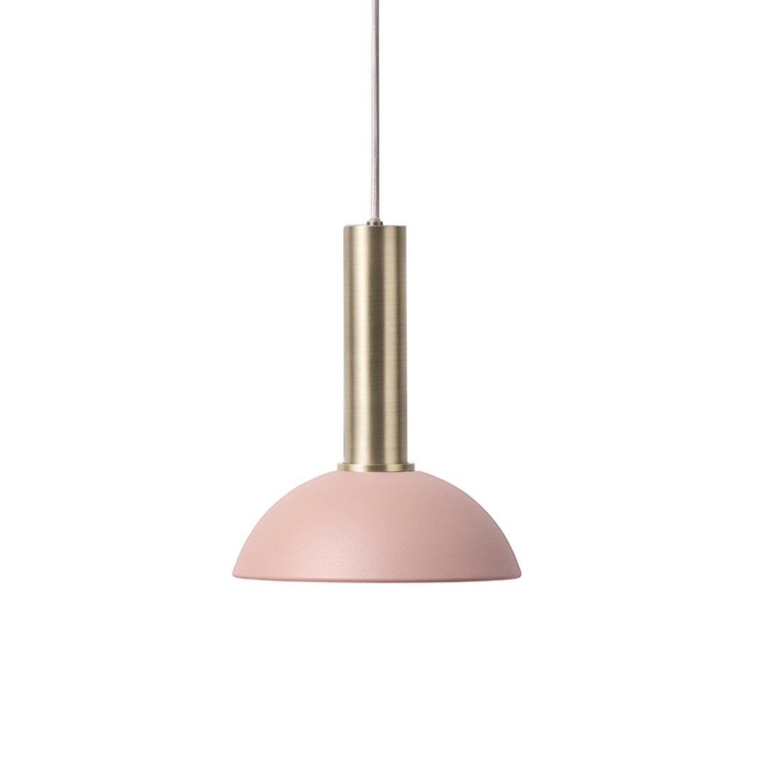 Ferm Living Collect Hoop High Hanglamp Messing Roze
