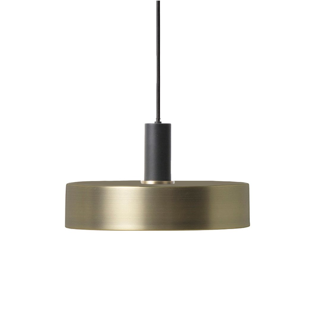 Ferm Living Collect Record Low Hanglamp Zwart Messing