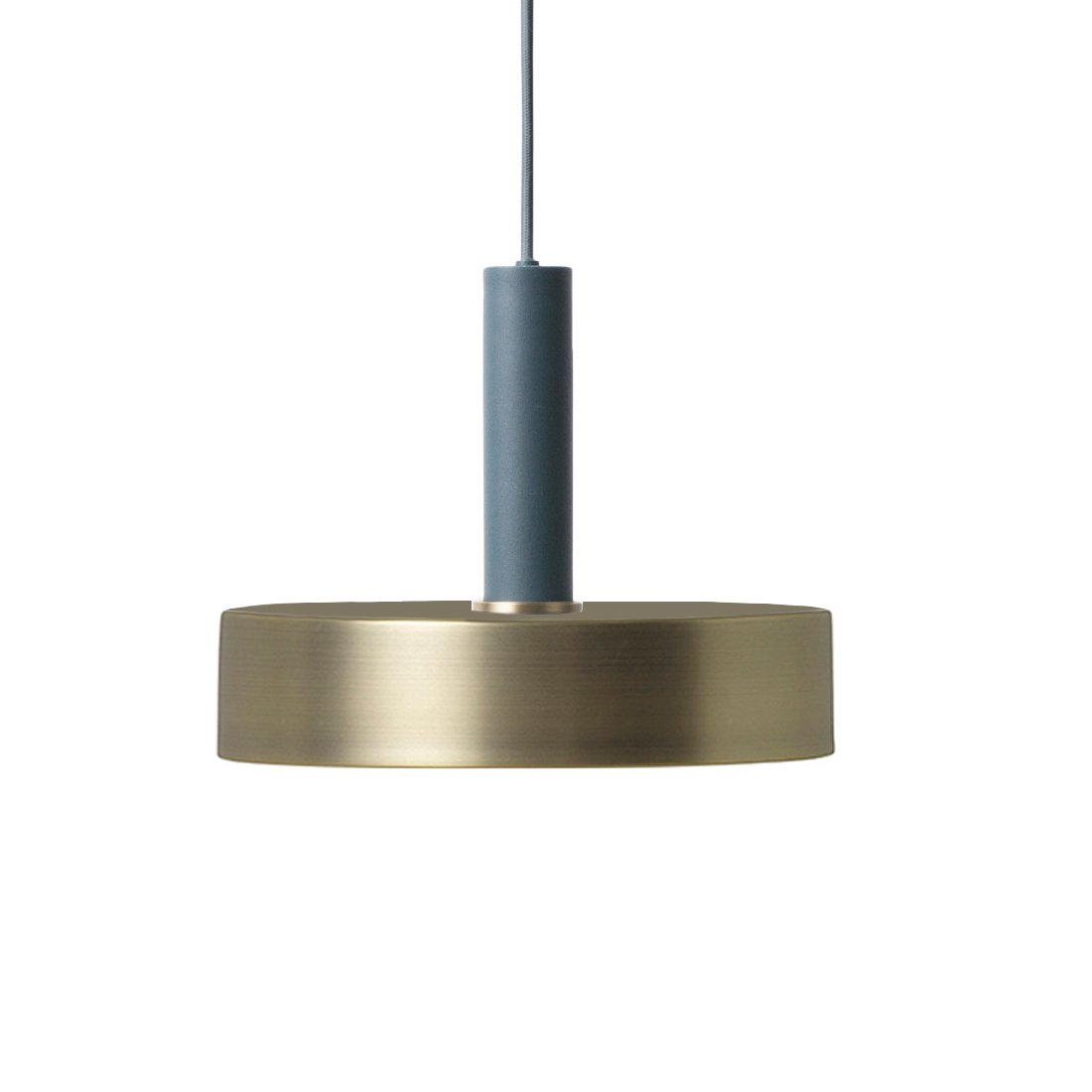 Ferm Living Collect Record High Hanglamp Donkerblauw Messing