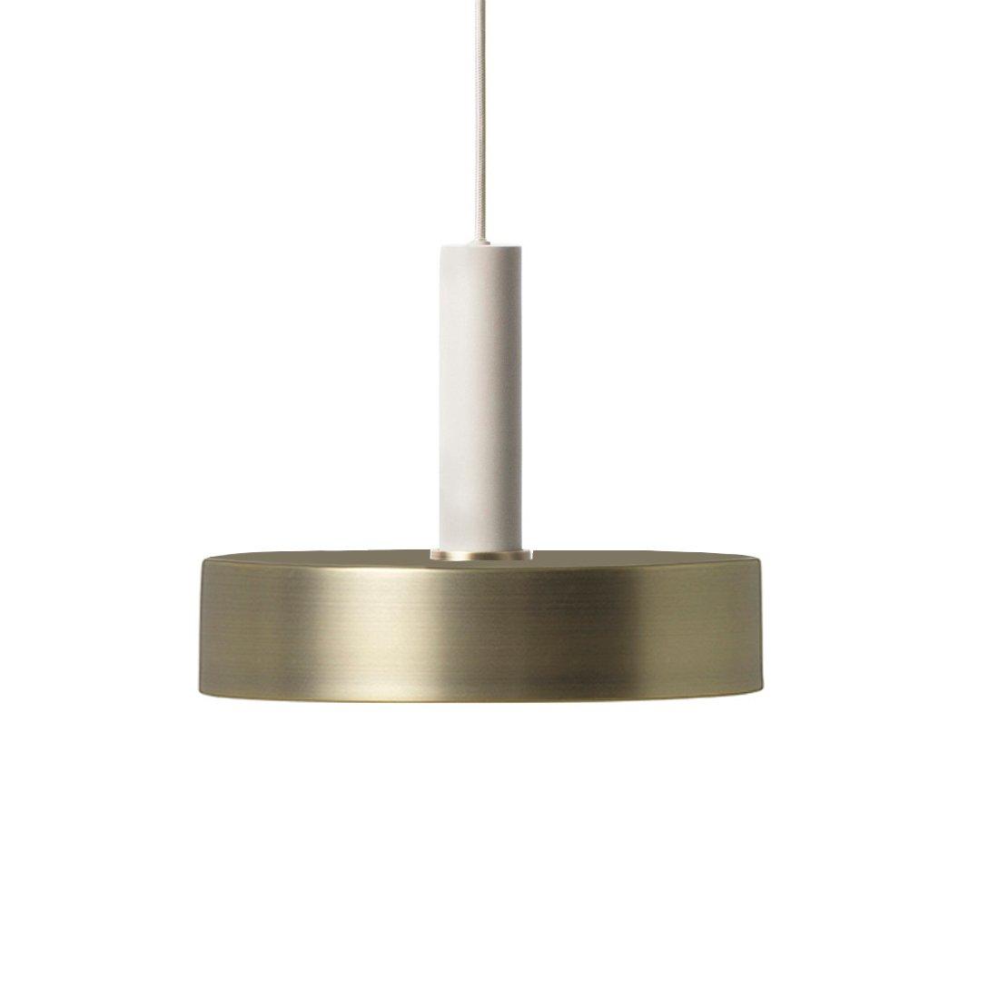 Ferm Living Collect Record High Hanglamp Lichtgrijs Messing