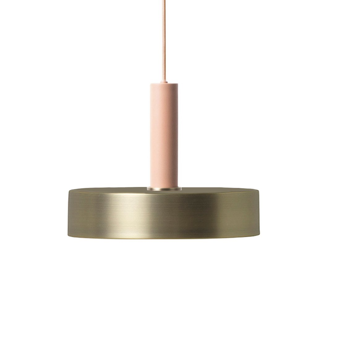 Ferm Living Collect Record High Hanglamp Roze Messing