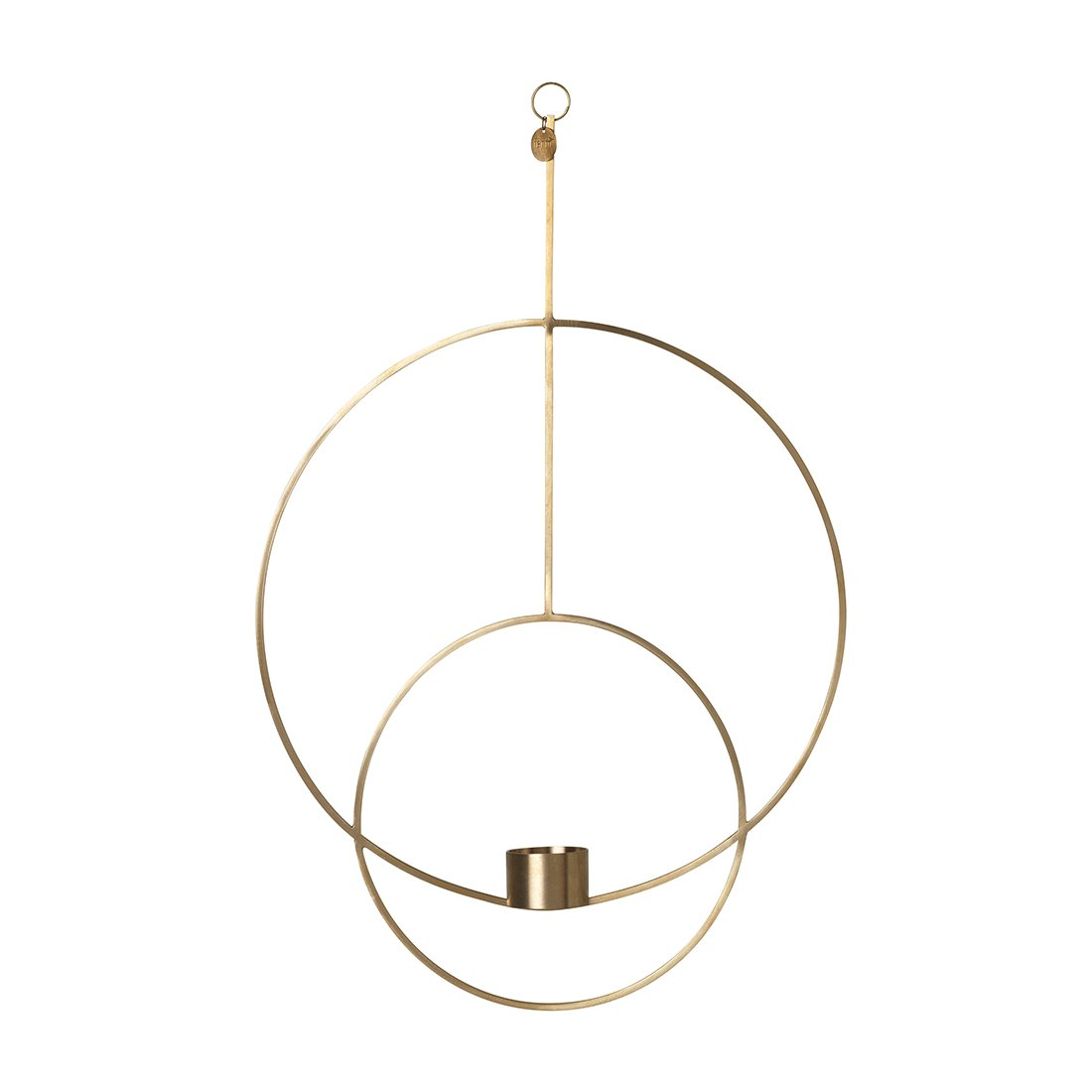 Ferm Living Hanging Tealight Deco Theelichthouder Circulair Messing