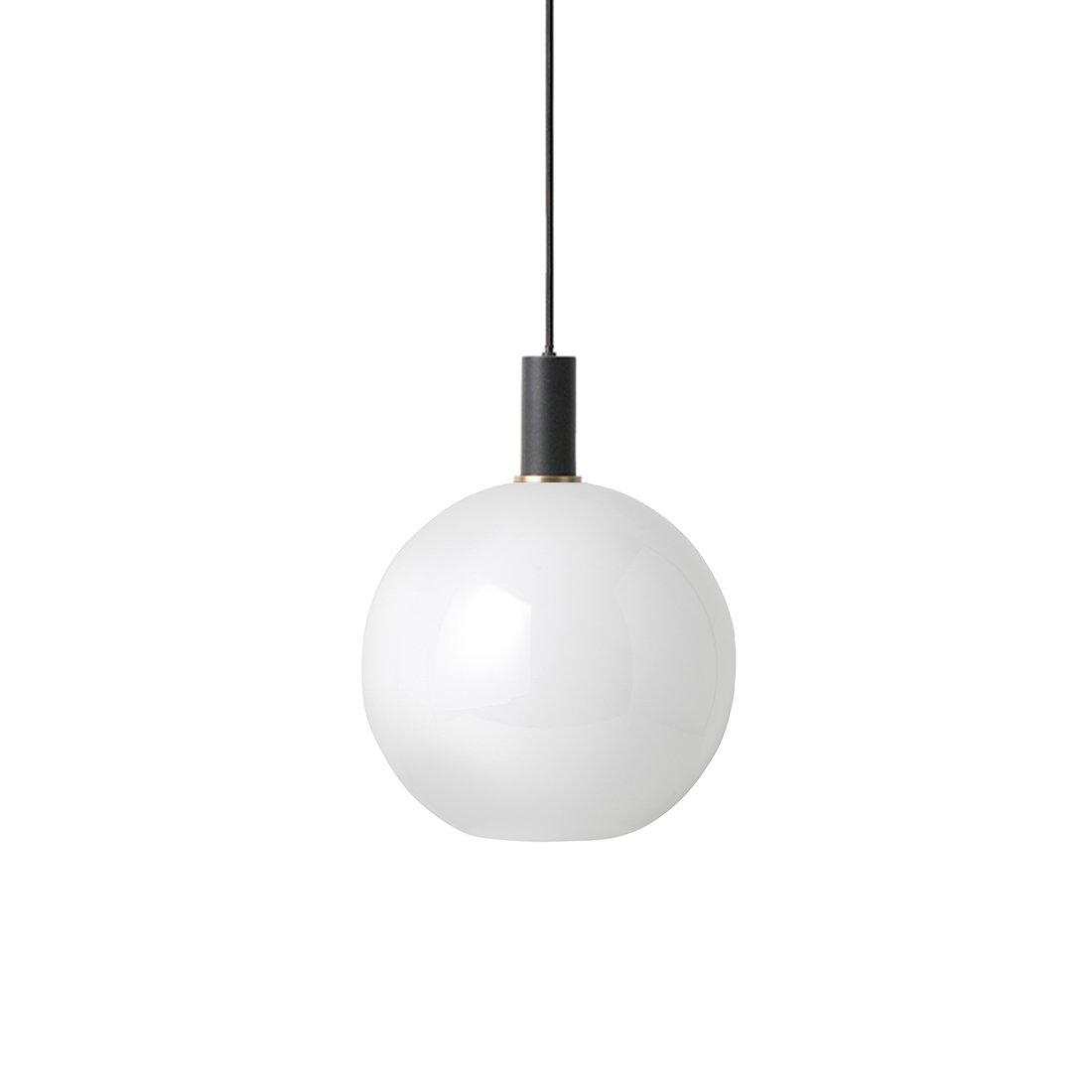Ferm Living Collect Opal Sphere Low Hanglamp Zwart