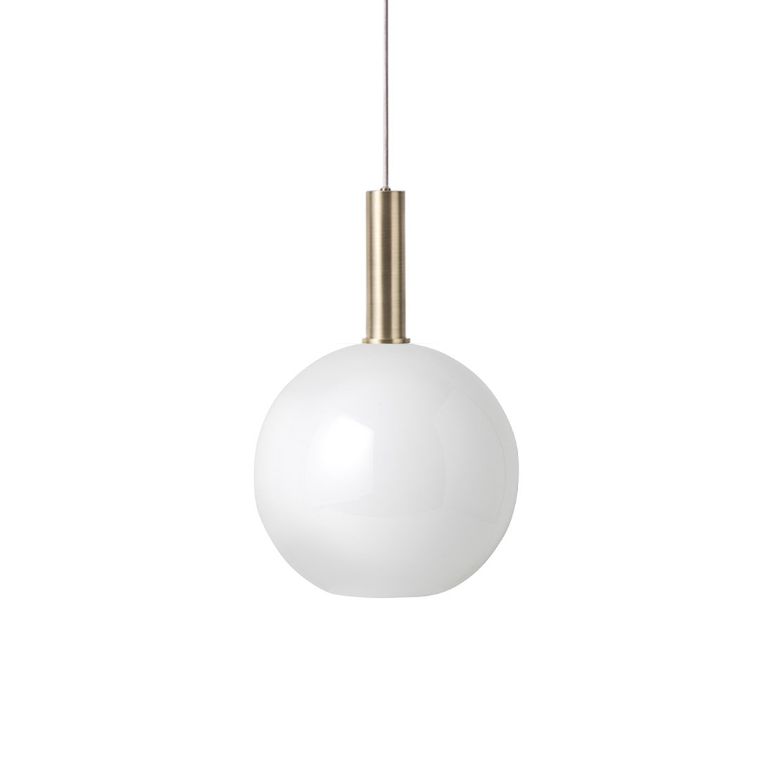 Ferm Living Collect Opal Sphere High Hanglamp Messing