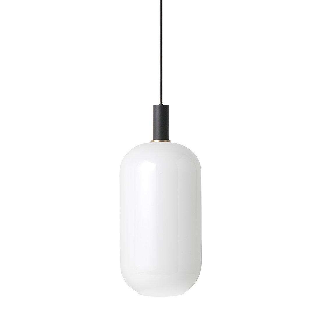 Ferm Living Collect Opal Tall Low Hanglamp Zwart