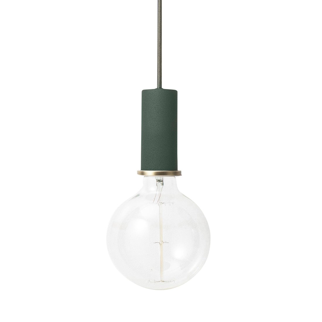 Ferm Living Collect Socket Low Hanglamp Donkergroen