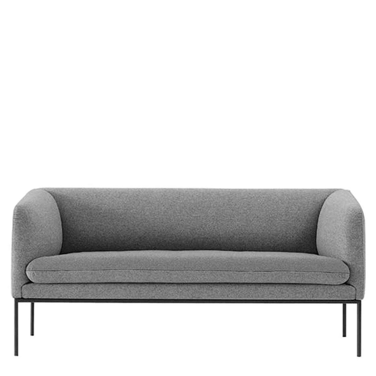 Ferm Living Turn Sofa 2 Bank Wolmix Lichtgrijs