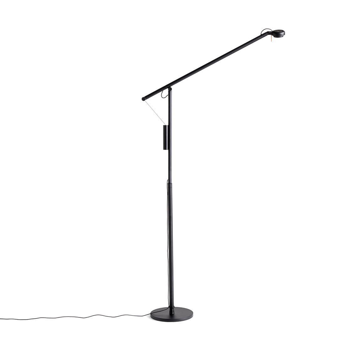 HAY Fifty-Fifty Vloerlamp - Soft black