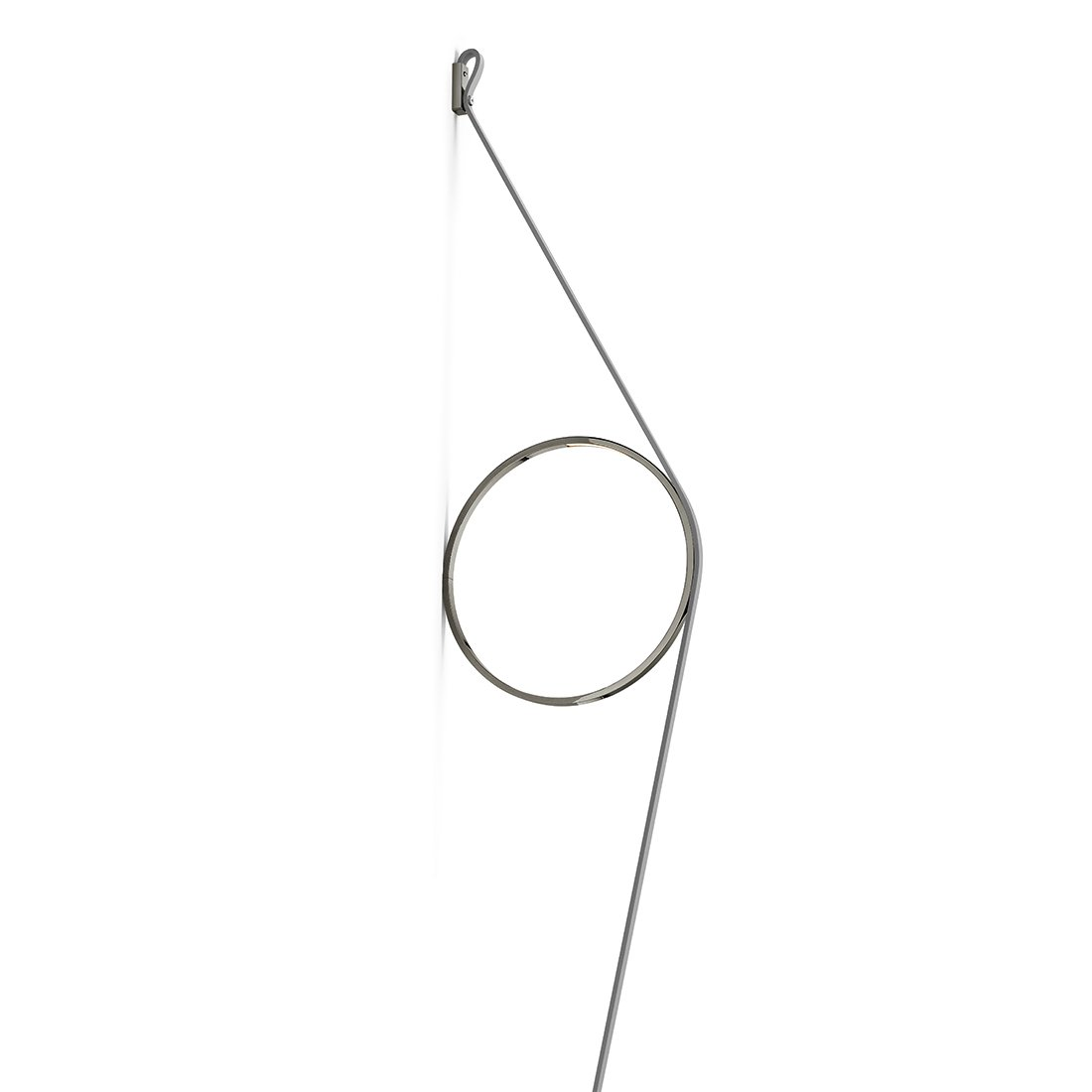 FLOS WireRing Wandlamp Grijze Kabel - Antraciete Ring