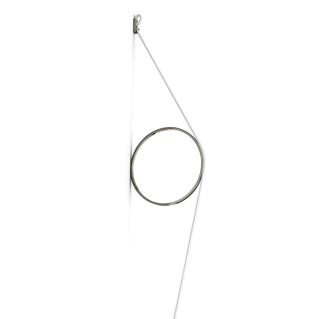 FLOS WireRing Wandlamp Witte Kabel - Antraciete Ring
