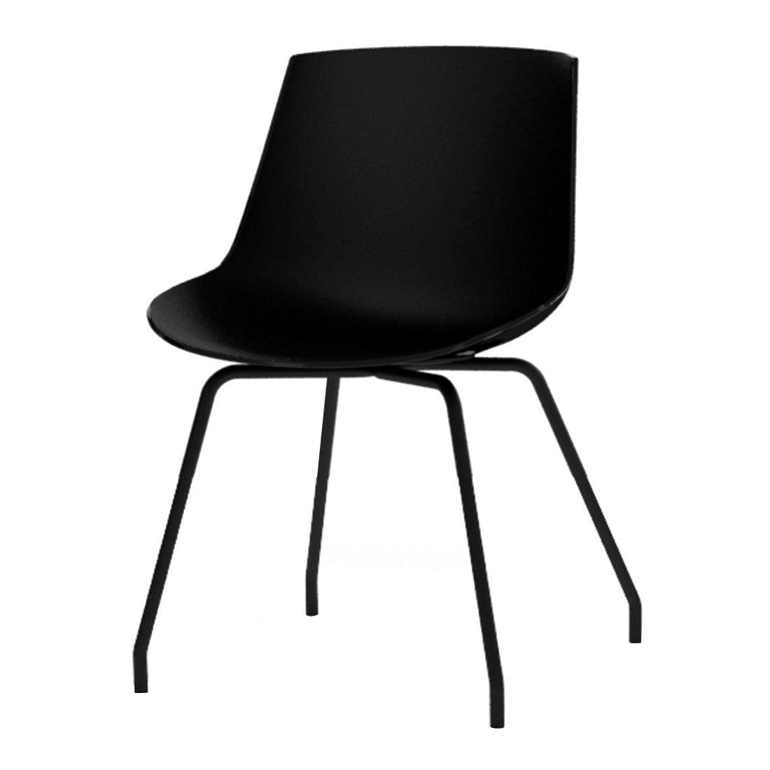 MDF Italia Flow Chair Stalen Onderstel Zwart - Graphite Grey