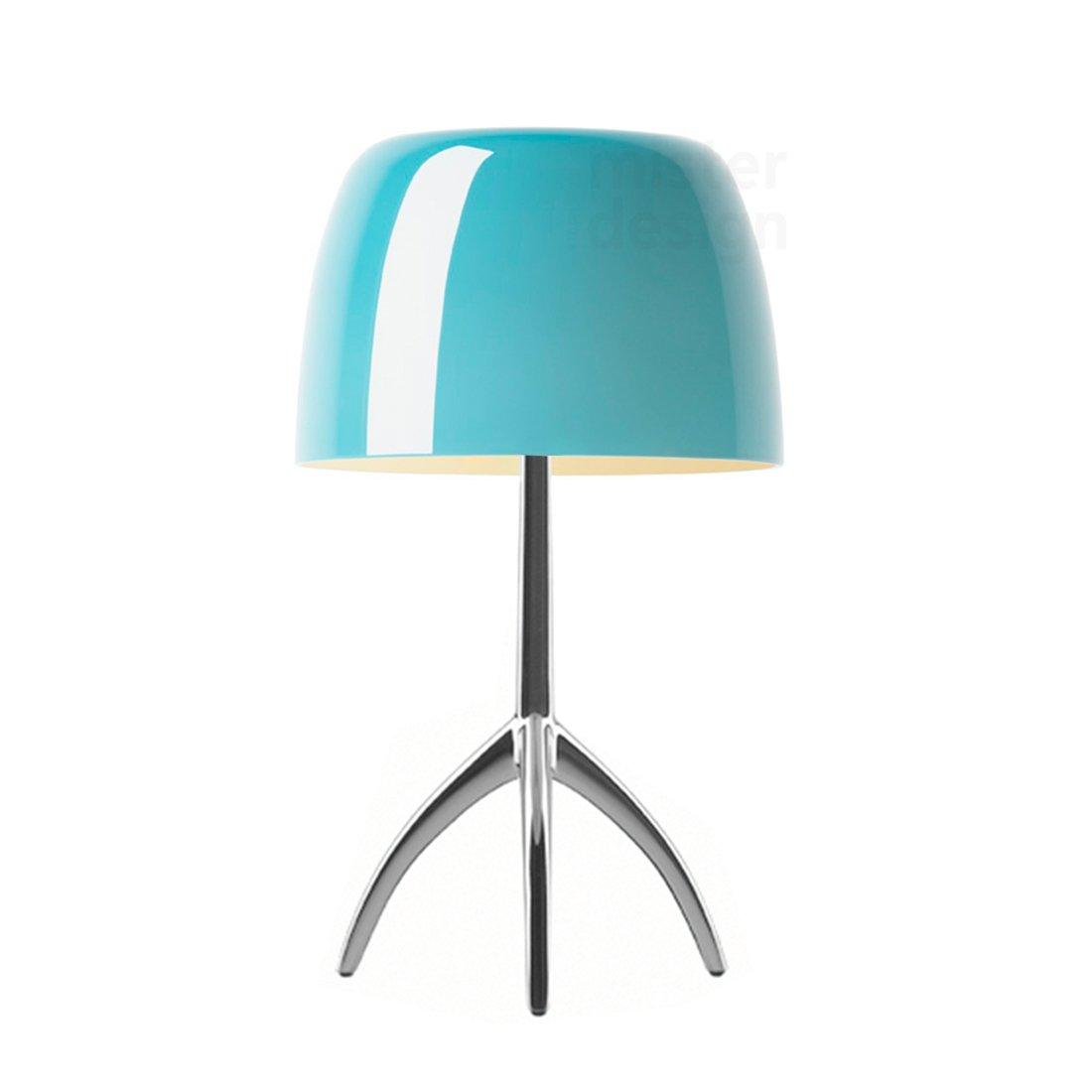 Foscarini Lumiere Piccola Tafellamp Dimbaar - Turquoise - Aluminium