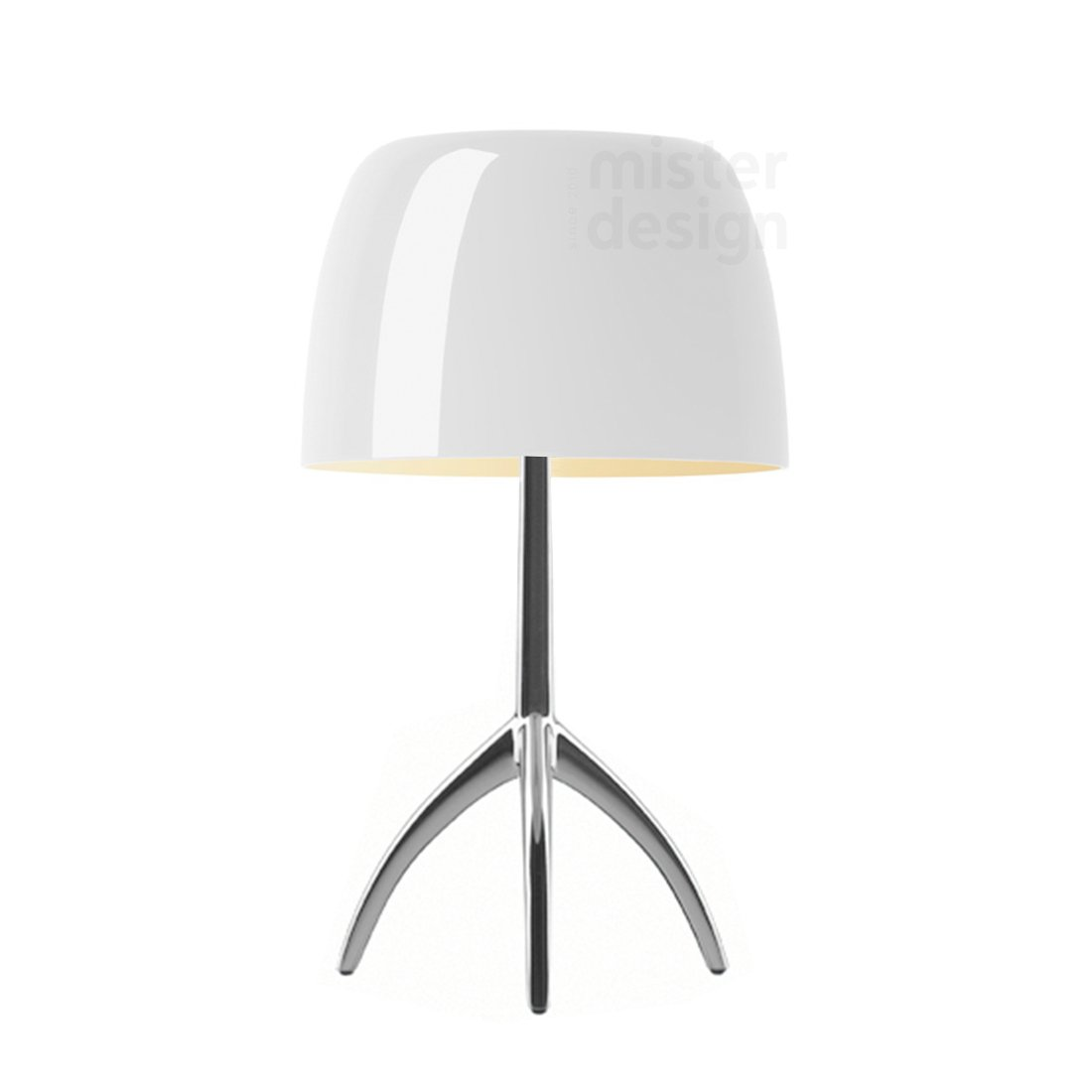 Foscarini Lumiere Piccola Tafellamp - Warm Wit - Aluminium