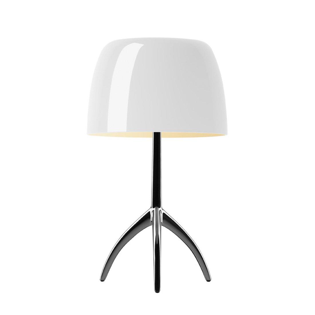 Foscarini Lumiere Piccola Tafellamp Dimbaar - Warm Wit - Zwart Chroom