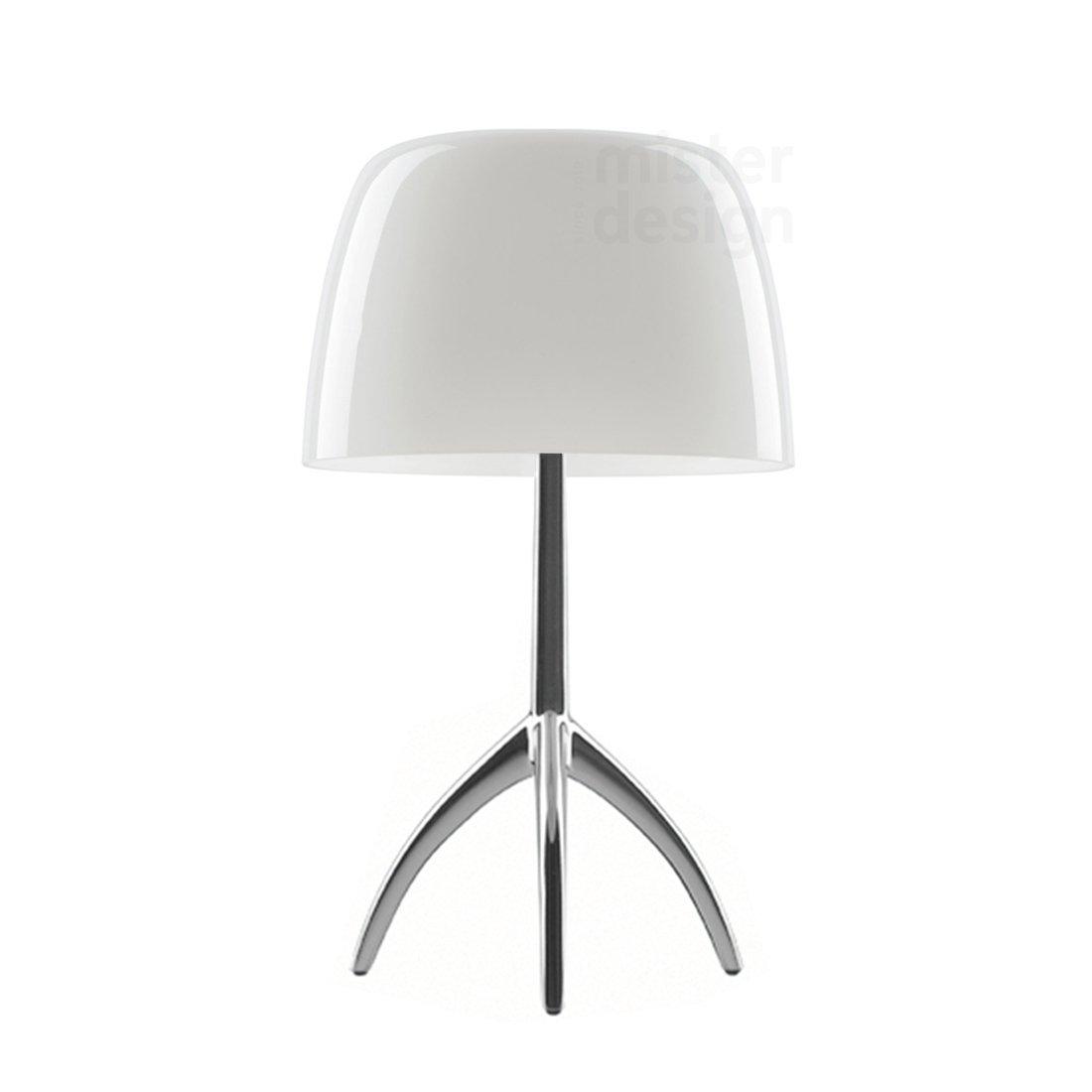 Foscarini Lumiere Tafellamp Wit - Aluminium Dimbaar