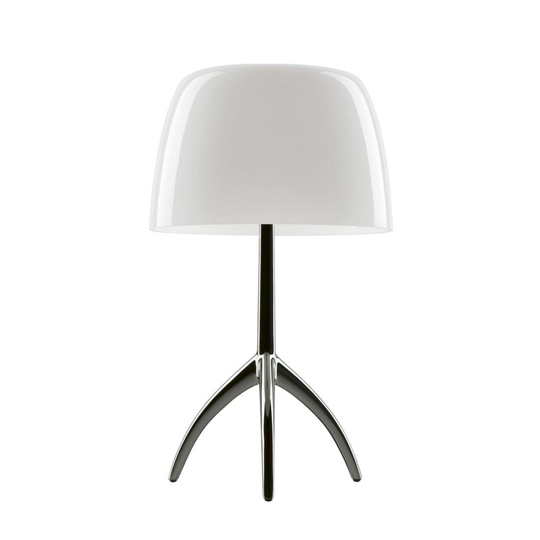 Foscarini Lumiere Piccola Tafellamp - Wit - Zwart Chroom
