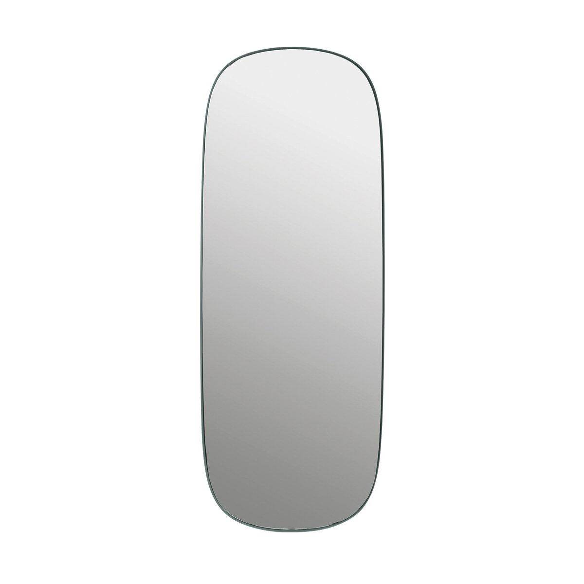 Muuto Framed Spiegel Large - Donkergroen