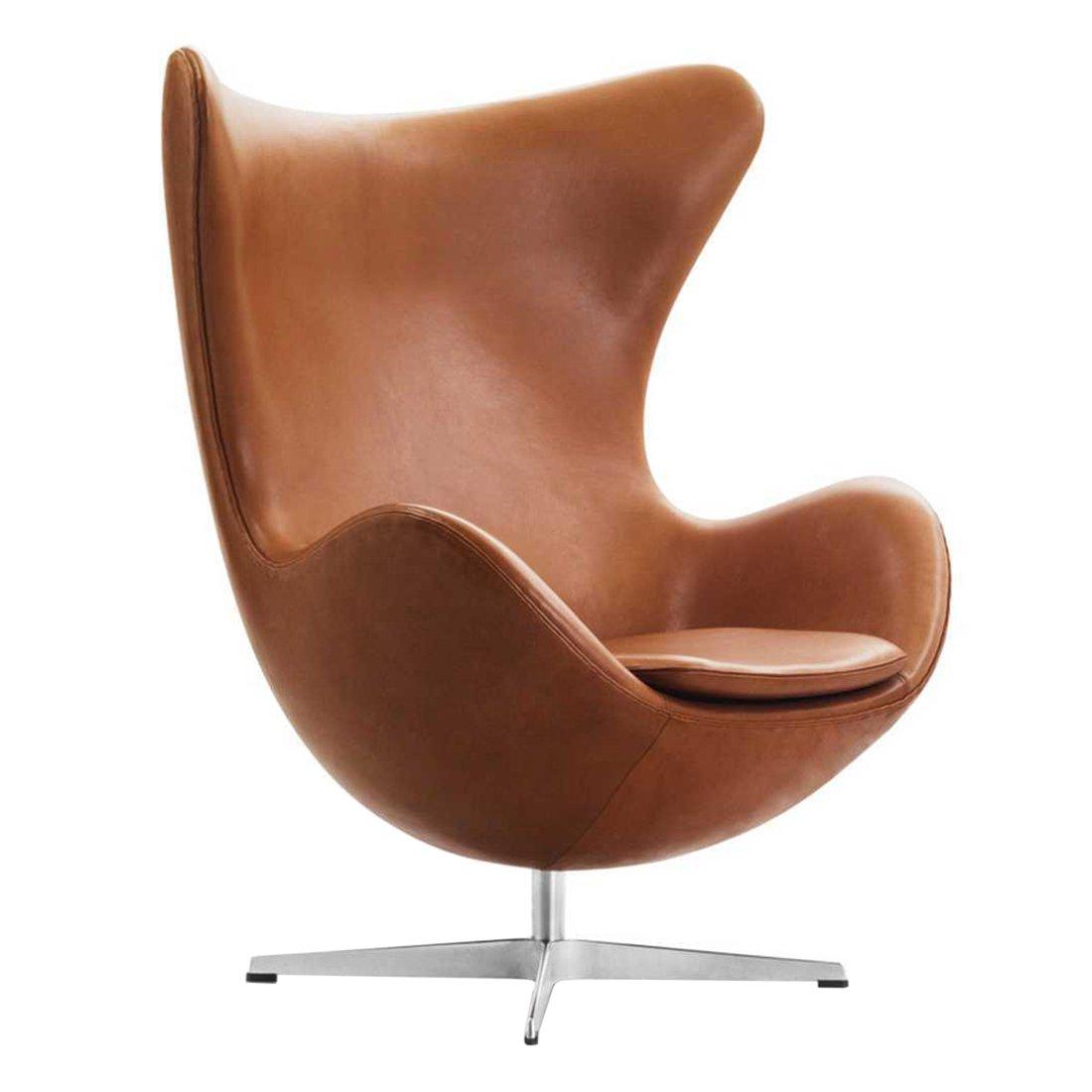 Fritz Hansen Egg Chair - Walnoot Elegance Leder