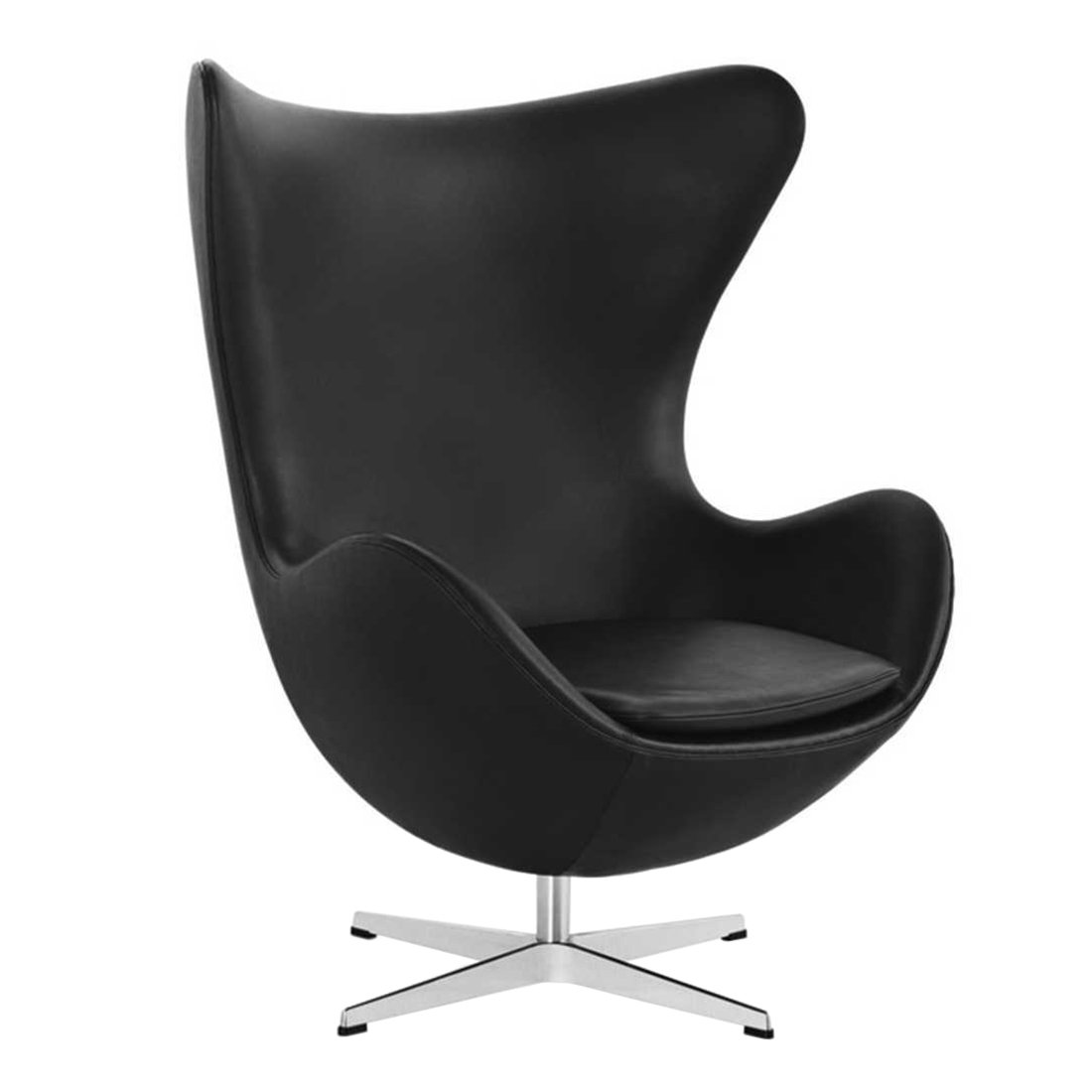 Fritz Hansen Egg Chair - Zwart Leer