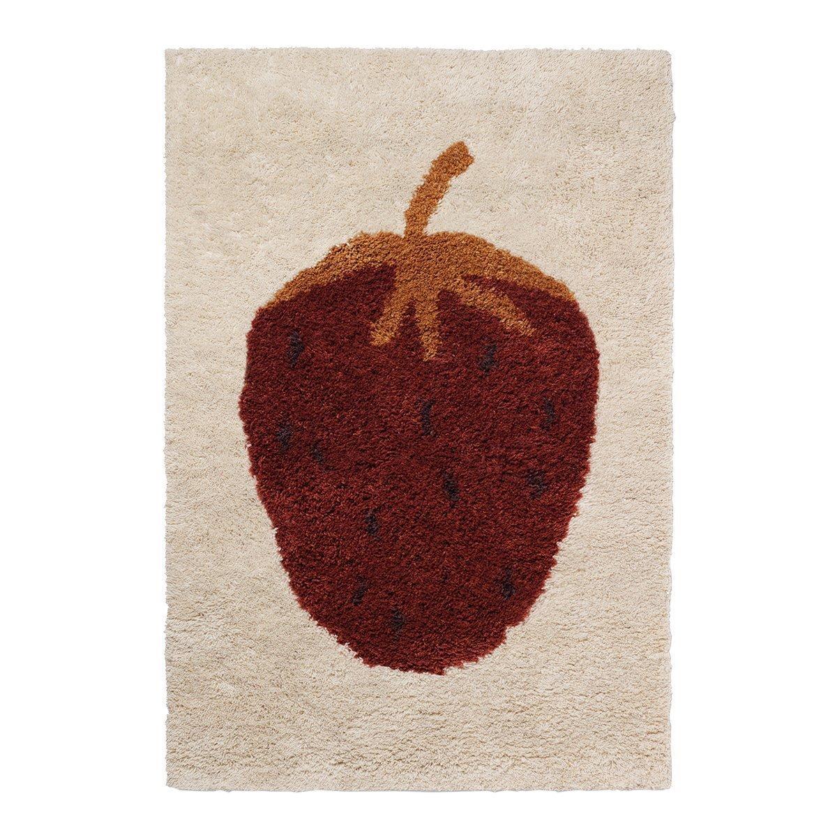 Ferm living Fruiticana Vloerkleed - Strawberry Small