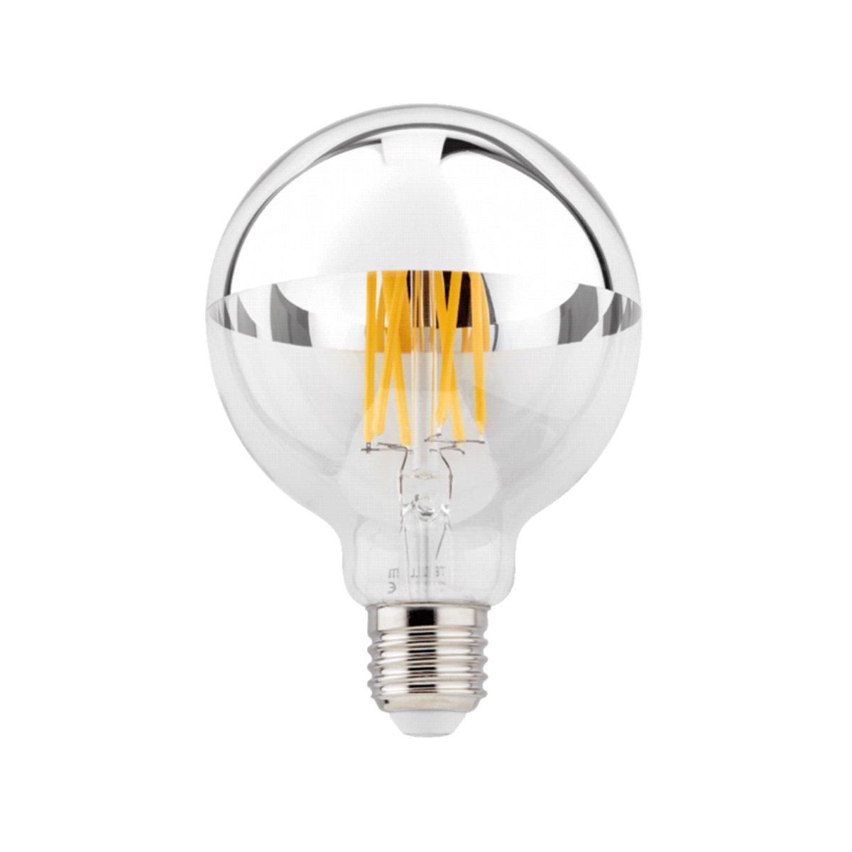 LED E27 G95 6W Zilveren Kopspiegel
