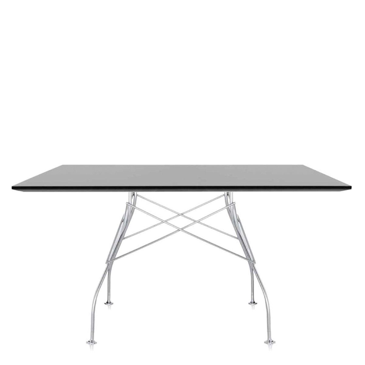 Kartell Gloss Eettafel 130 x 130 cm - Zwart
