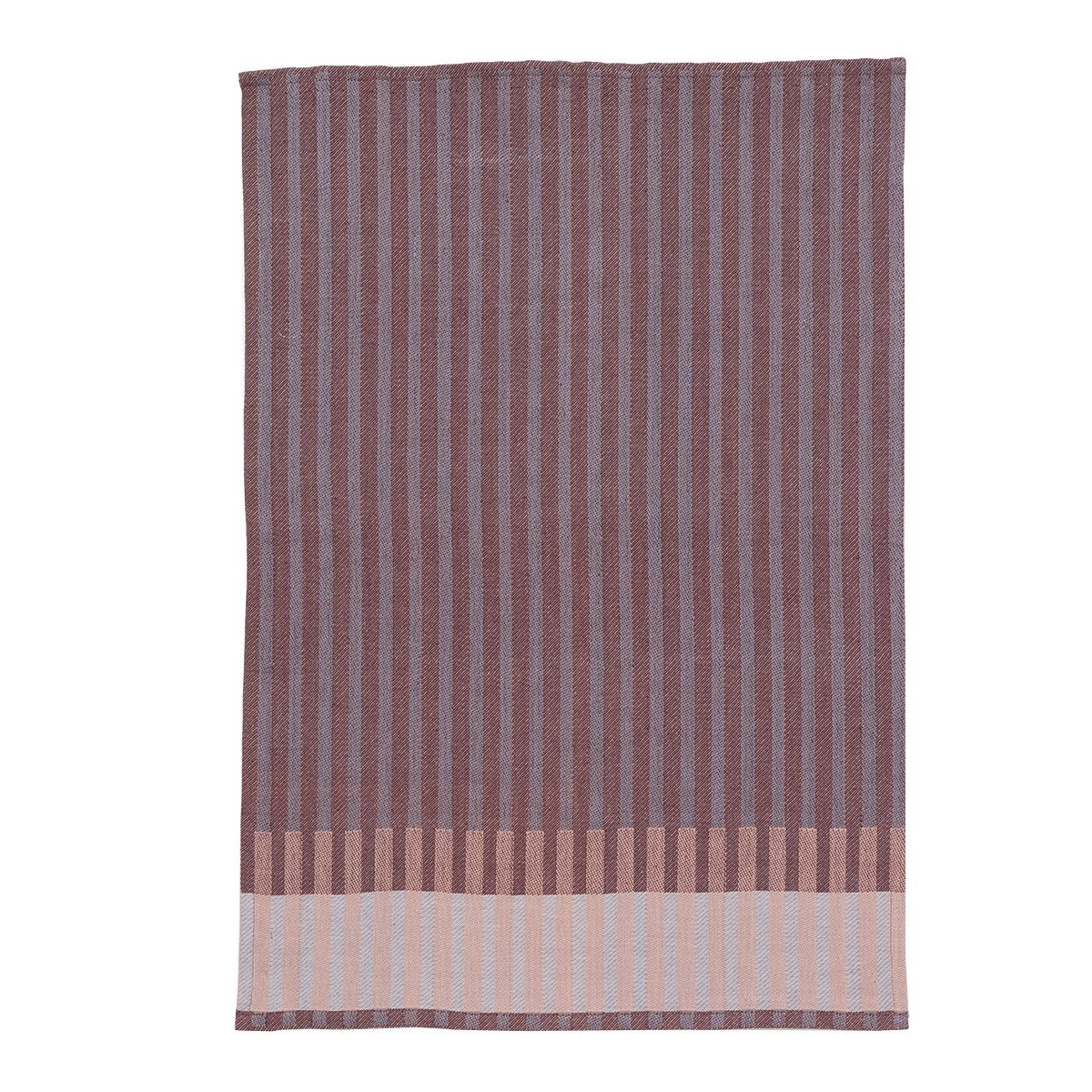 Ferm Living Grain Jacquard Theedoek - Bordeaux