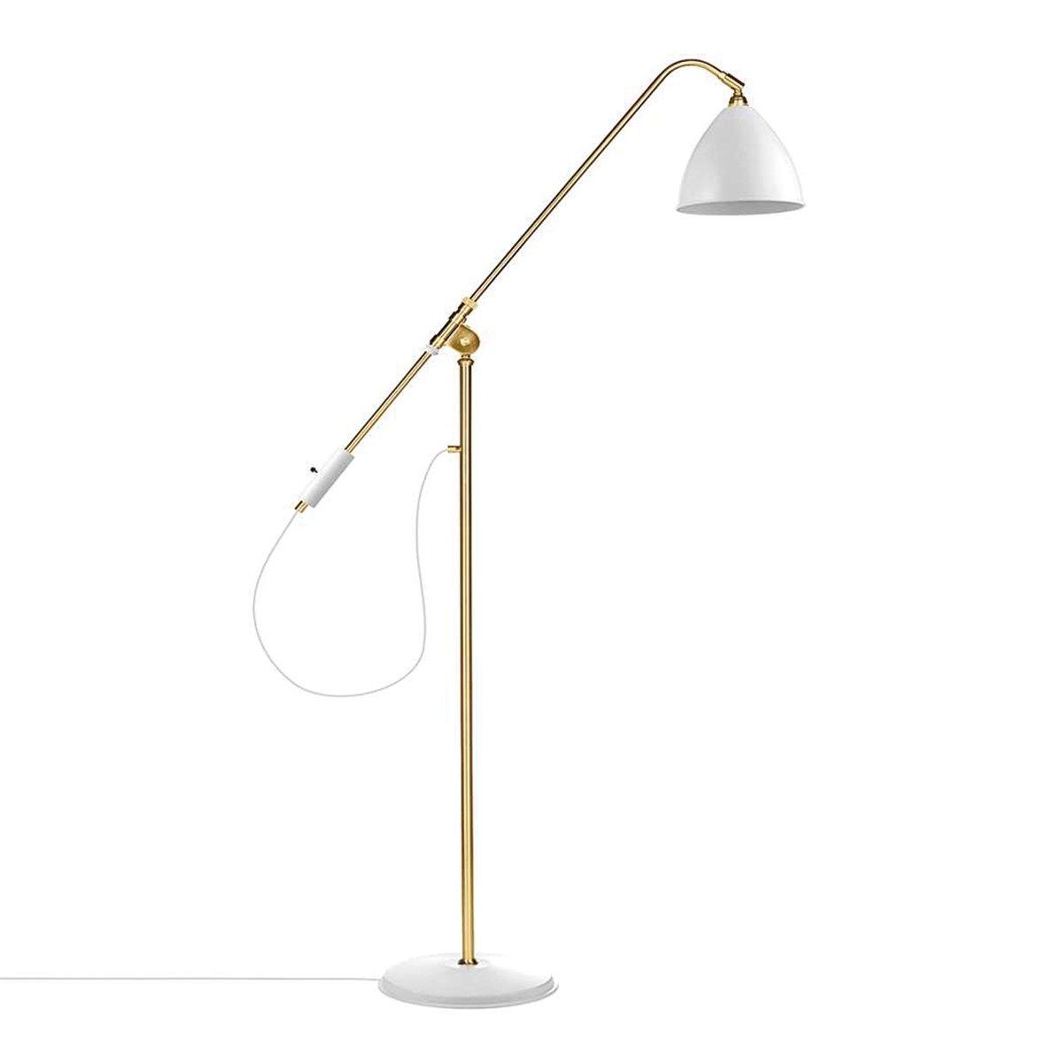 Gubi Bestlite BL4 Vloerlamp Wit Messing