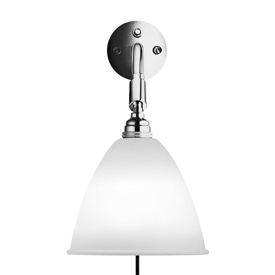 Gubi Bestlite BL7 Wandlamp Met Stekker Porselein Chroom