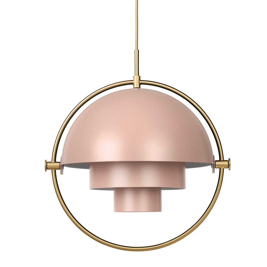Gubi Multi-Lite Hanglamp Messing - Rose Dust
