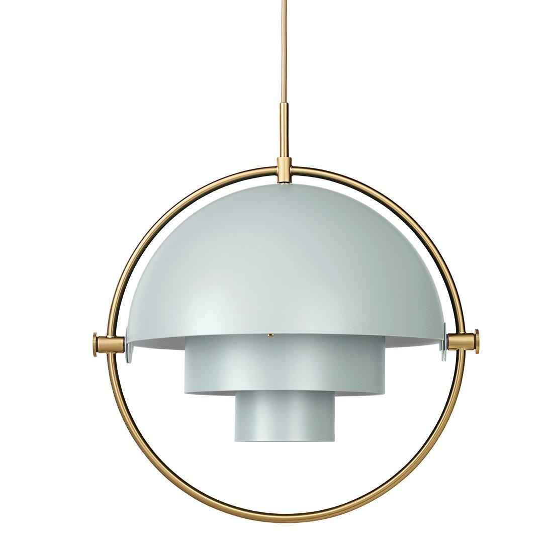 Gubi Multi-Lite Hanglamp Messing - Sea Grey