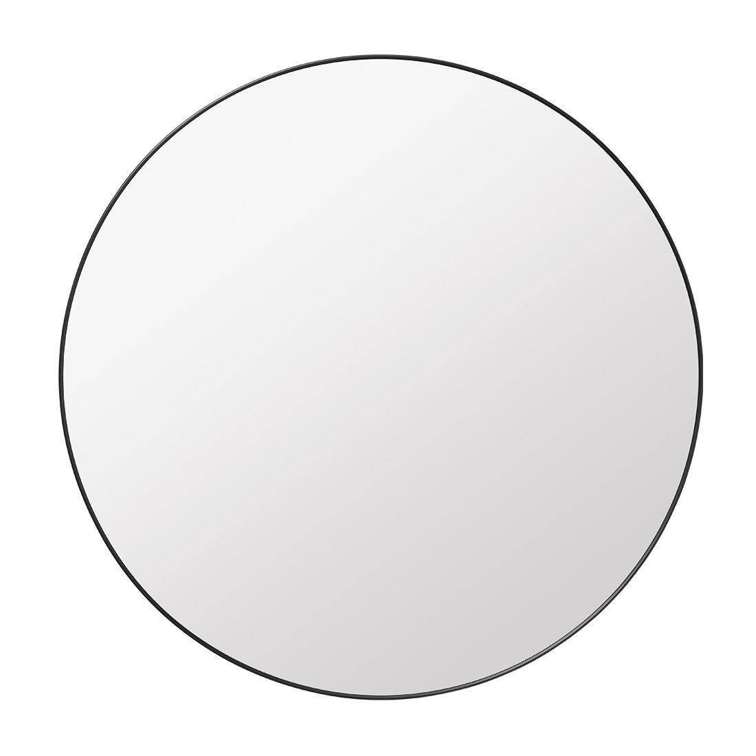 Gubi Mirror Round Zwart Messing
