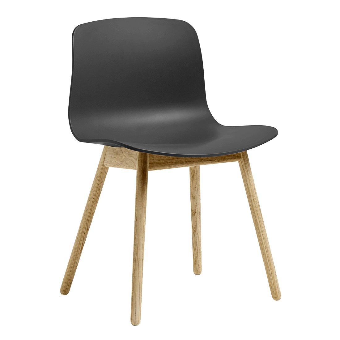 HAY About A Chair AAC 12 Stoel Naturel Gelakt Soft Zwart