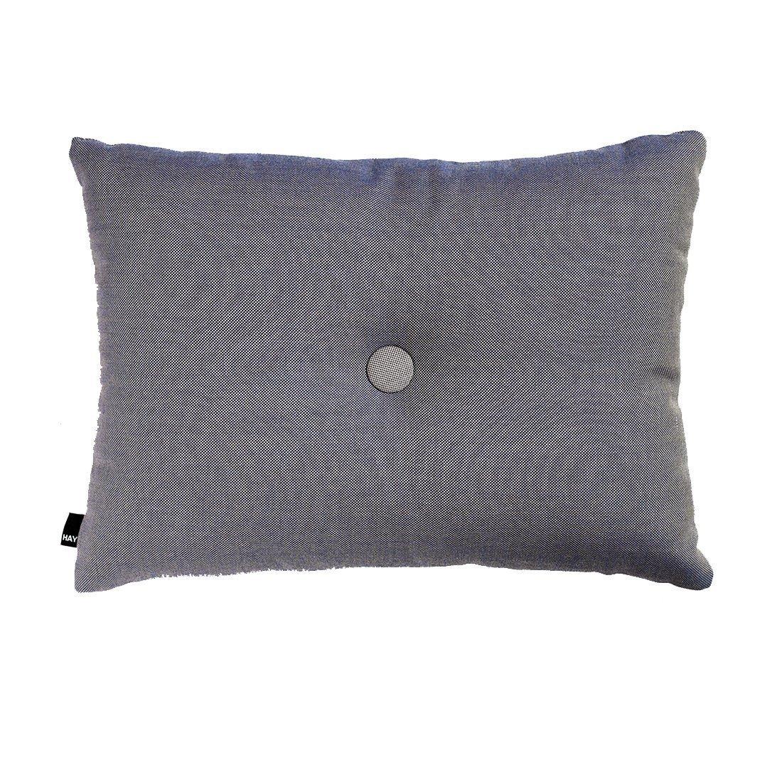 HAY Dot Cushion 1 Knoop Surface Kussen Steel Blauw
